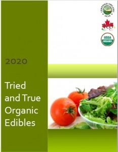 2020 Tried & True Edibles Catalogue cover
